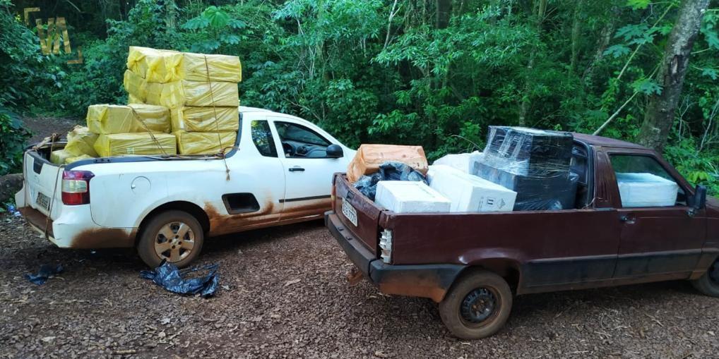 Caminhonetes com agrotóxicos, cigarros e pneus contrabandeados do Paraguai são apreendidas em Guaíra   #G1 #G1PR