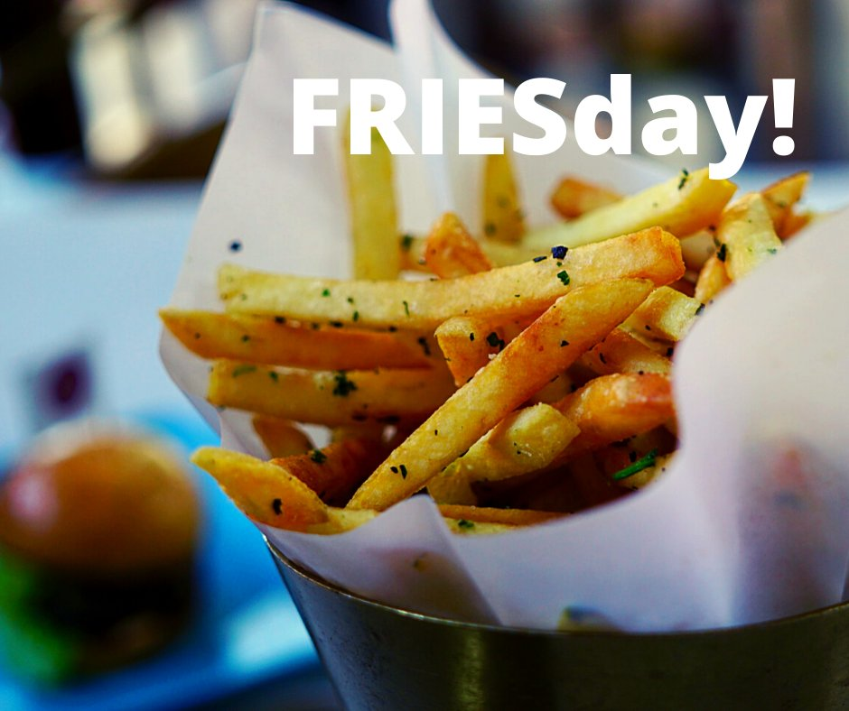 You've heard of Taco Tuesday…well, today is FRIESday! So, how do you like yours? Salted, seasoned, topped with chili or cheese? Sweet potato or golden? The options are limitless! Share your favorite creation in the comments! #Friday #FRIESday #happyfriday #food https://t.co/IyoXTT2vuk