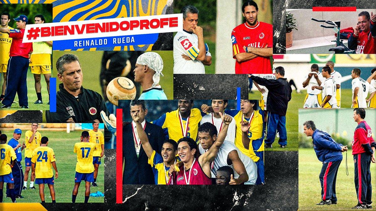 #BienvenidoProfe  ¡Las mejores energías en esta nueva etapa @ReinaldoRuedaDT !  #VamosColombia 🇨🇴