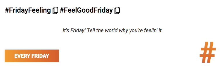 #FridayFeeling #FeelGoodFriday - It's Friday! Tell the world why you're feelin' it. #smm