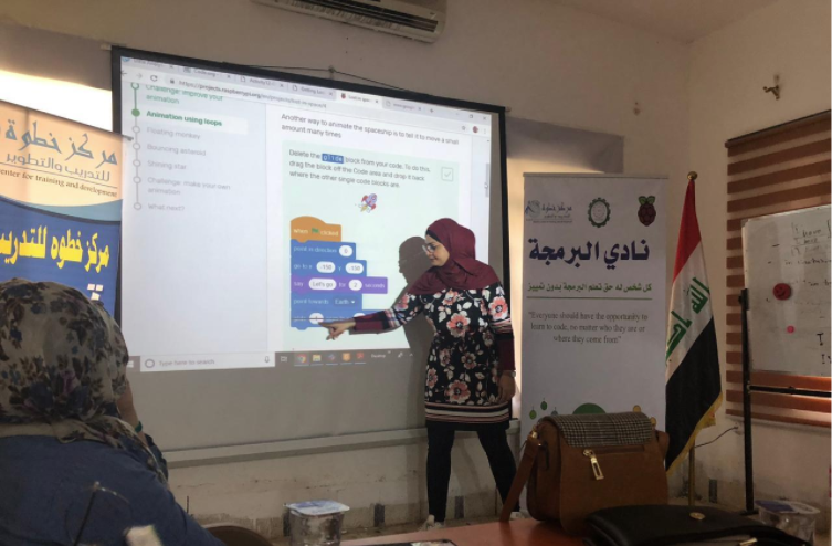 Our national partner in Iraq, Khutwa Center, has been very busy indeed!   The wonderful @nadiaali3000  has been using our train-the- trainer programme to bring new volunteers on board to start new clubs throughout Iraq! Go Nadia and team 👏   #FridayFeature #FridayMotivation