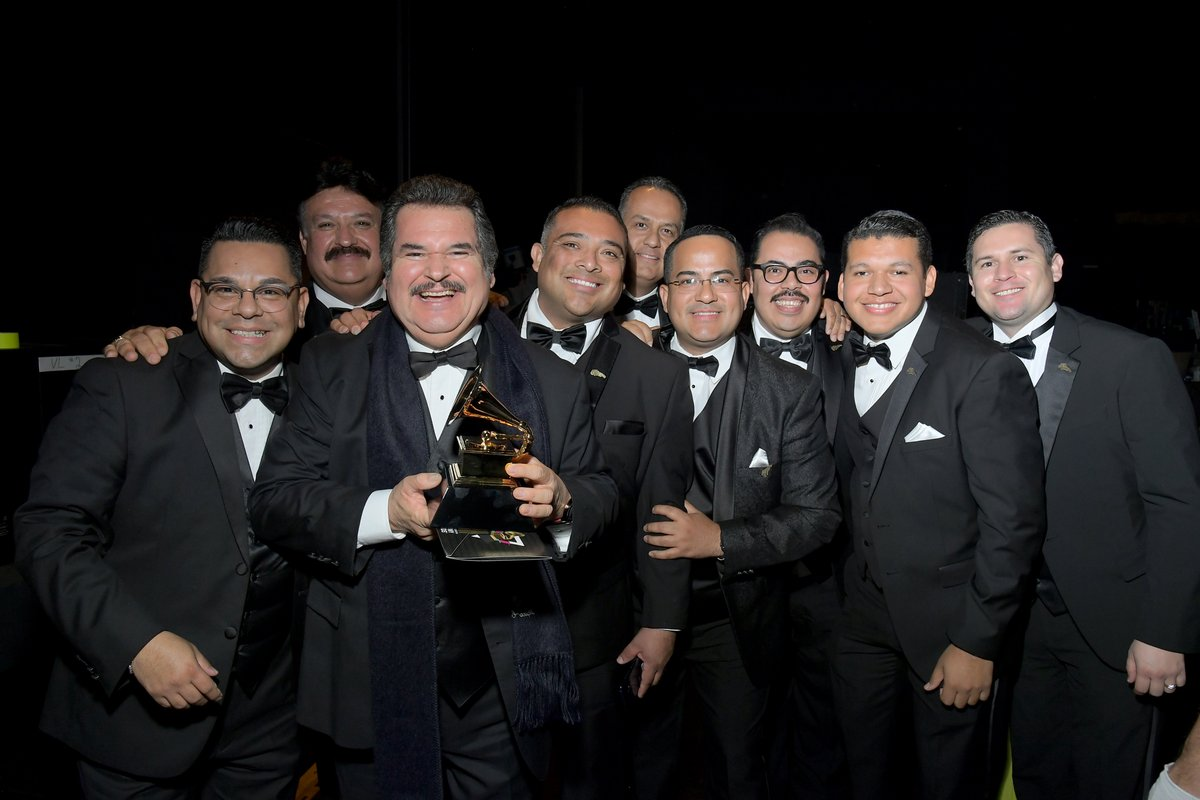 """Mariachi Los Camperos (@MLCamperos) win their second GRAMMY for Best Regional Mexican Music Album for """"De Ayer Para Siempre"""" at the 62nd #GRAMMYs."""