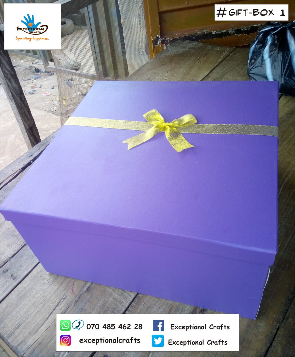 Gift boxes add a special unique touch to your gifts..  #giftideas #giftboxes #celebration #MadeInLagos
