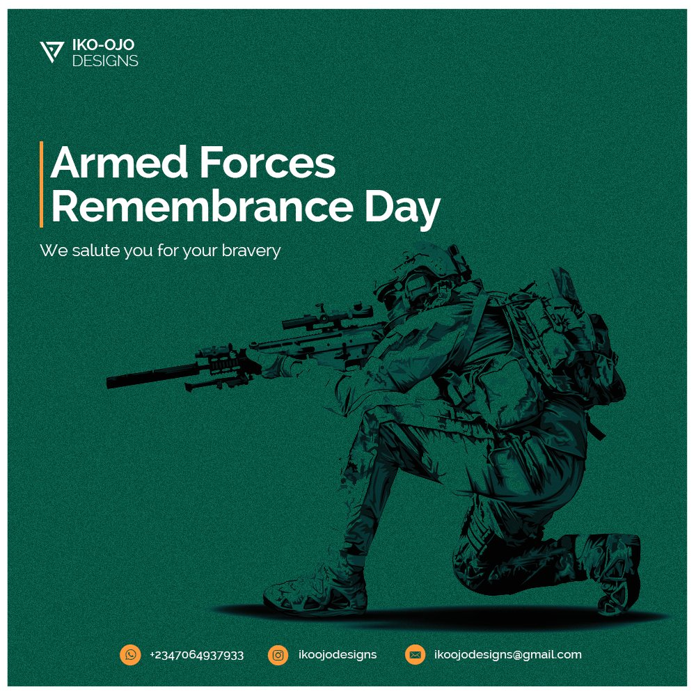 Remembrance Day!  #KingTundeEdnut #RemembranceDay #Nigerian #ArmyDay2021 #ARMY #LekkiMassaccre #ArmedForcesRemembranceDay