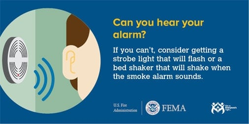 #FridayMotivation: Get a smoke, carbon monoxide and natural gas alarm with flashing lights or vibrating signals if you're deaf or hard of hearing. #LifeSavingSkills