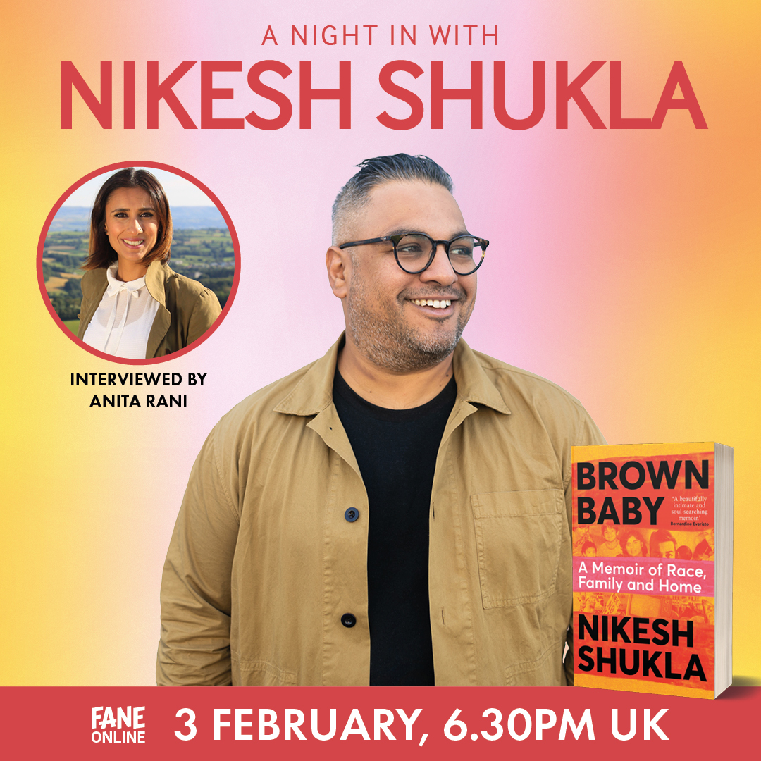 Just confirmed: radio and TV presenter @itsanitarani will be chatting to @nikeshshukla on 3 February.  Discussing BROWN BABY with contributions from @4browngirlsww, this promises to be a must-see stream: