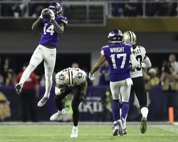 Wasn't a fan of the way @stefondiggs handled some of his business last year wearing purple but appreciate the #MinneapolisMiracle he helped provide the fan base and congrats on a big year. #skol