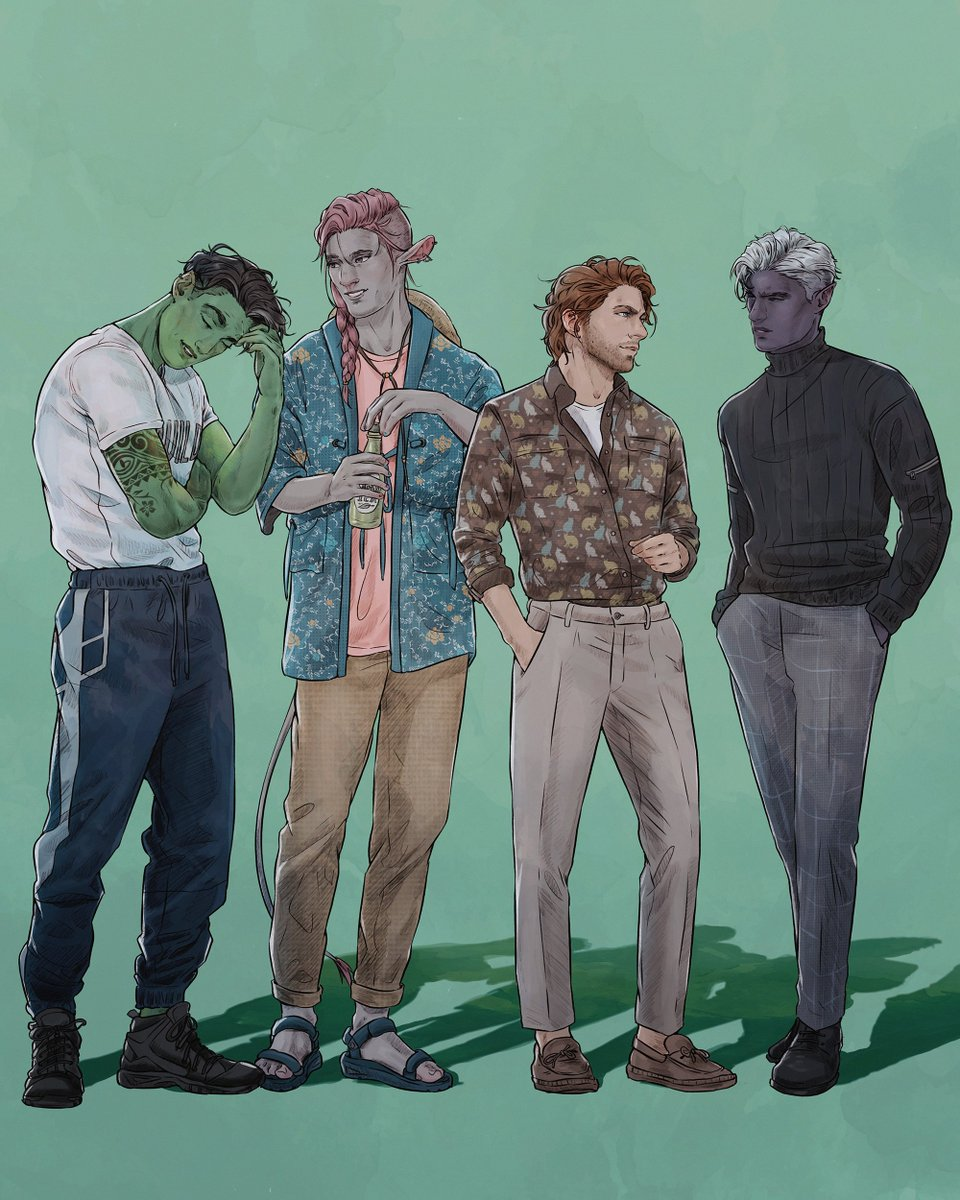 Replying to @MakenziePolkas: casual friday ~  @CriticalRole #CriticalRole #criticalrolefanart #CriticalRoleArt