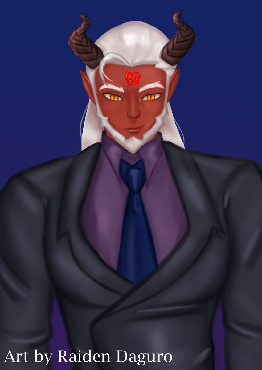 Meet Orpheus, Raidens demon Raiden made a pact with Orpheus, the rose symbol on his forehead shows that he is owned by Raiden. Raidens symbol/emblem is a rose, its a flower of Love and Death. @kyokudoni demons inspired me to make one💕💕💕
