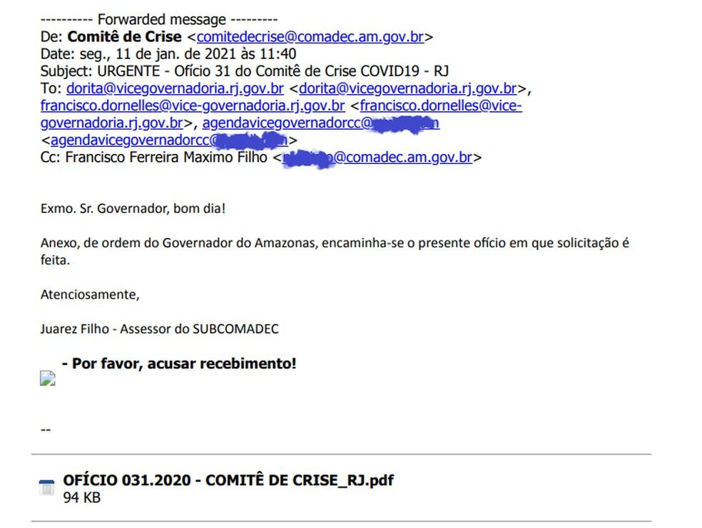 Veja a mensagem errada que atrasou um pedido urgente para Manaus  #G1 #Manaus #oxigênio