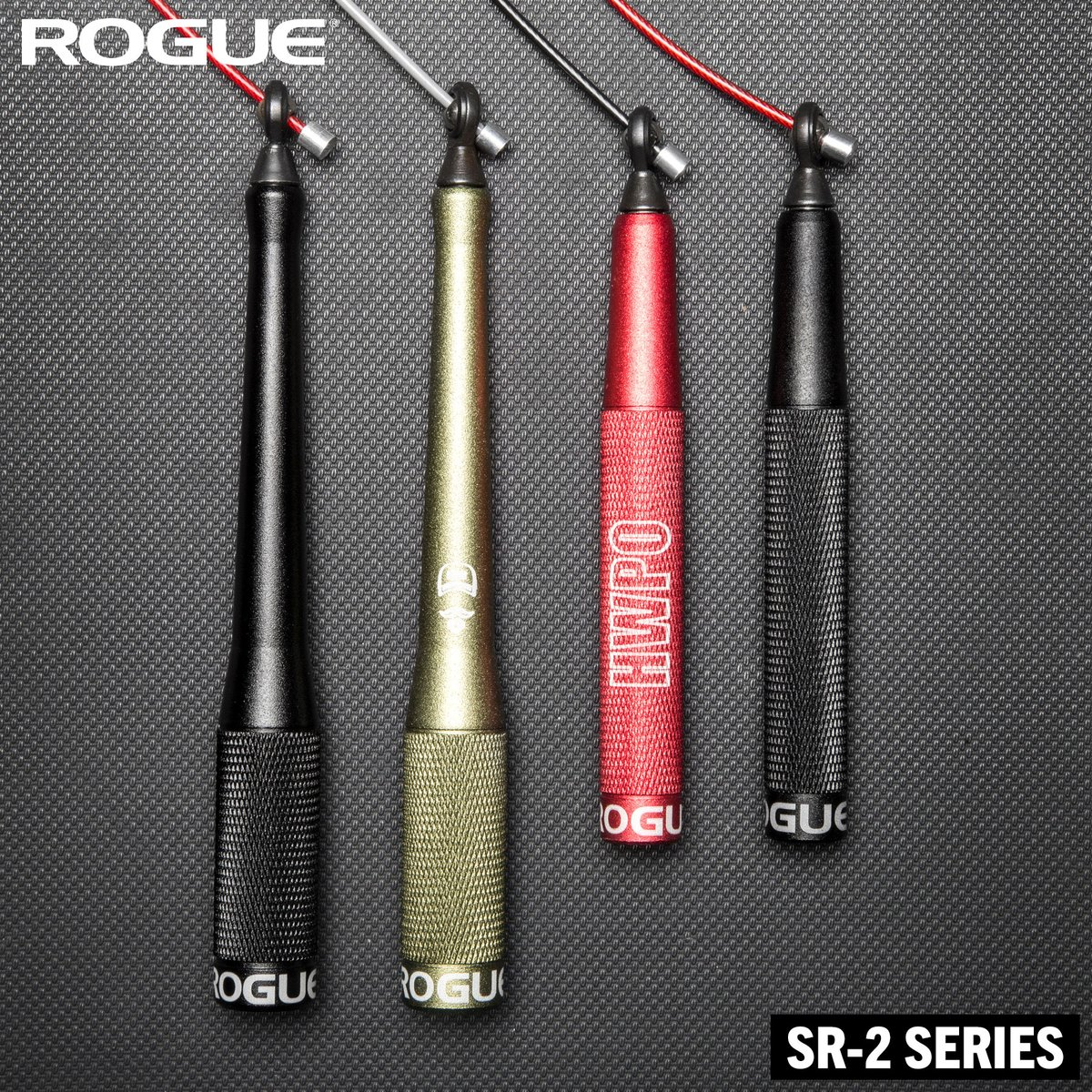 Aluminum construction, knurled handles, ball bearing swivel design, and made in the USA. For a smooth spin and blazing speed, an SR-2 rope is the rope for you.   Shop speed ropes: