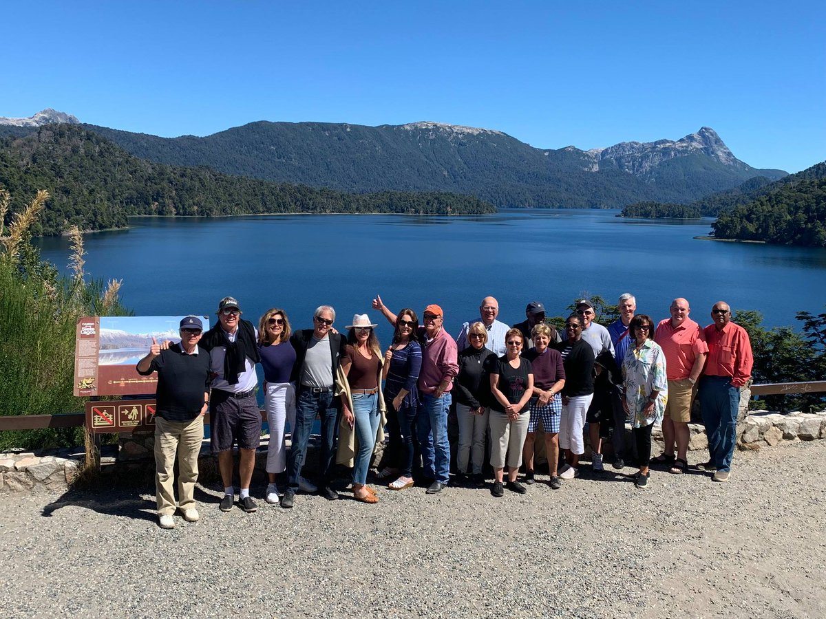 #FlashbackFriday Lakeside lunch at Correntoso Restaurant on our Seven Lakes drive from San Martin de los Andes to Bariloche #PerryGolfTrip #Argentina #golftravel #golfvacation