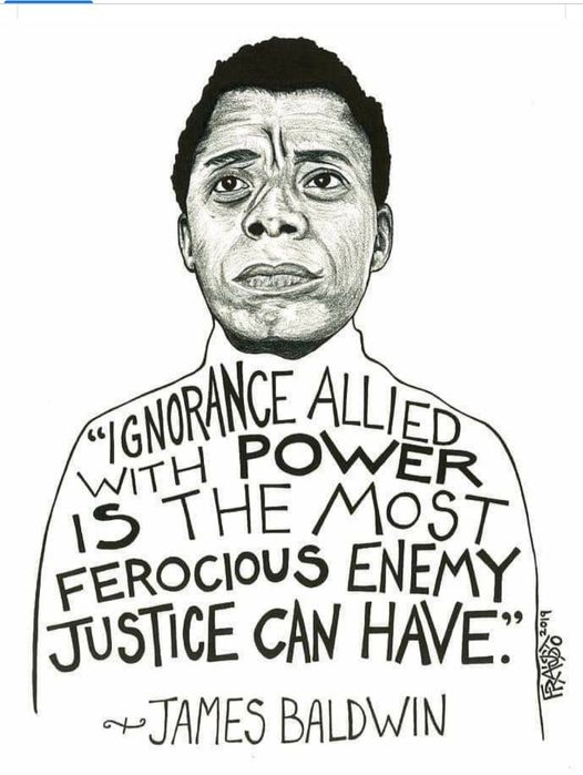 #JamesBaldwin #IgnoranceAlliedWithPower #Power #FridayThoughts  #Friday https://t.co/5bHnzAVVAd
