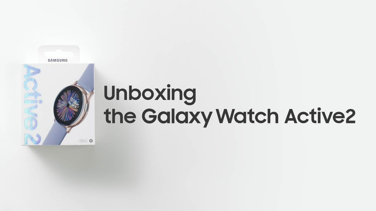 Meet #GalaxyWatchActive2! Here's a quick unboxing and first look of the Galaxy Watch Active2.  For more information, visit   #Unboxing