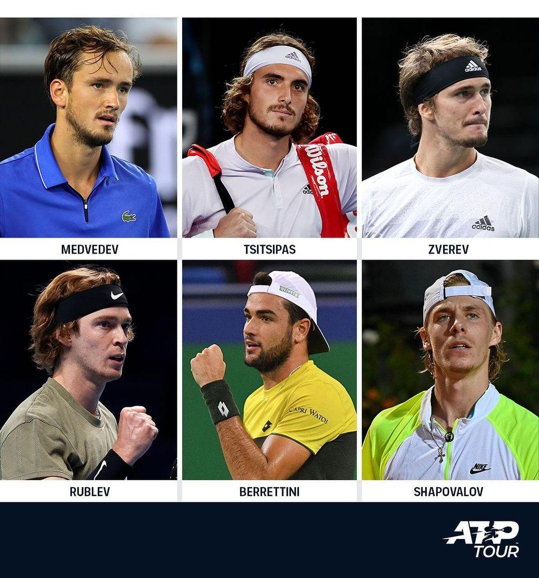 De los seis jugadores con 24 años o menos del Top-10, ¿cuál crees que tendrá una mejor temporada en 2021?  #ATPTour | #ThisIsTennis