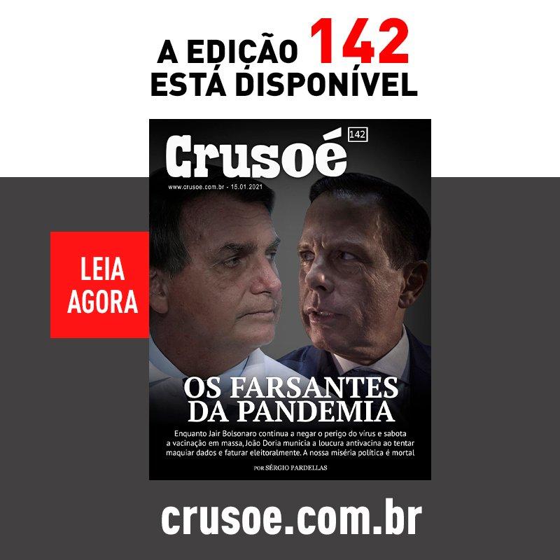 OS FARSANTES DA PANDEMIA  A nova edição da @RevistaCrusoe já está disponível.