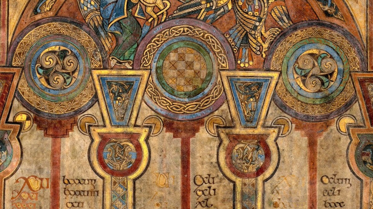 A three-dimensional effect was created in parts of the #BookofKells by layering three pigments on top of a ground layer. Can you spot it? https://t.co/sxjpddW2Cy