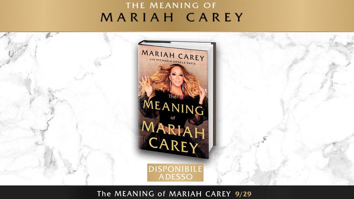 Acquista #TheMeaningOfMariahCarey, l'autobiografia di @MariahCarey con @MichaelaangelaD, al primo posto dei bestseller secondo il @nytimes, a prezzo speciale su @AmazonIT:  📖🦋