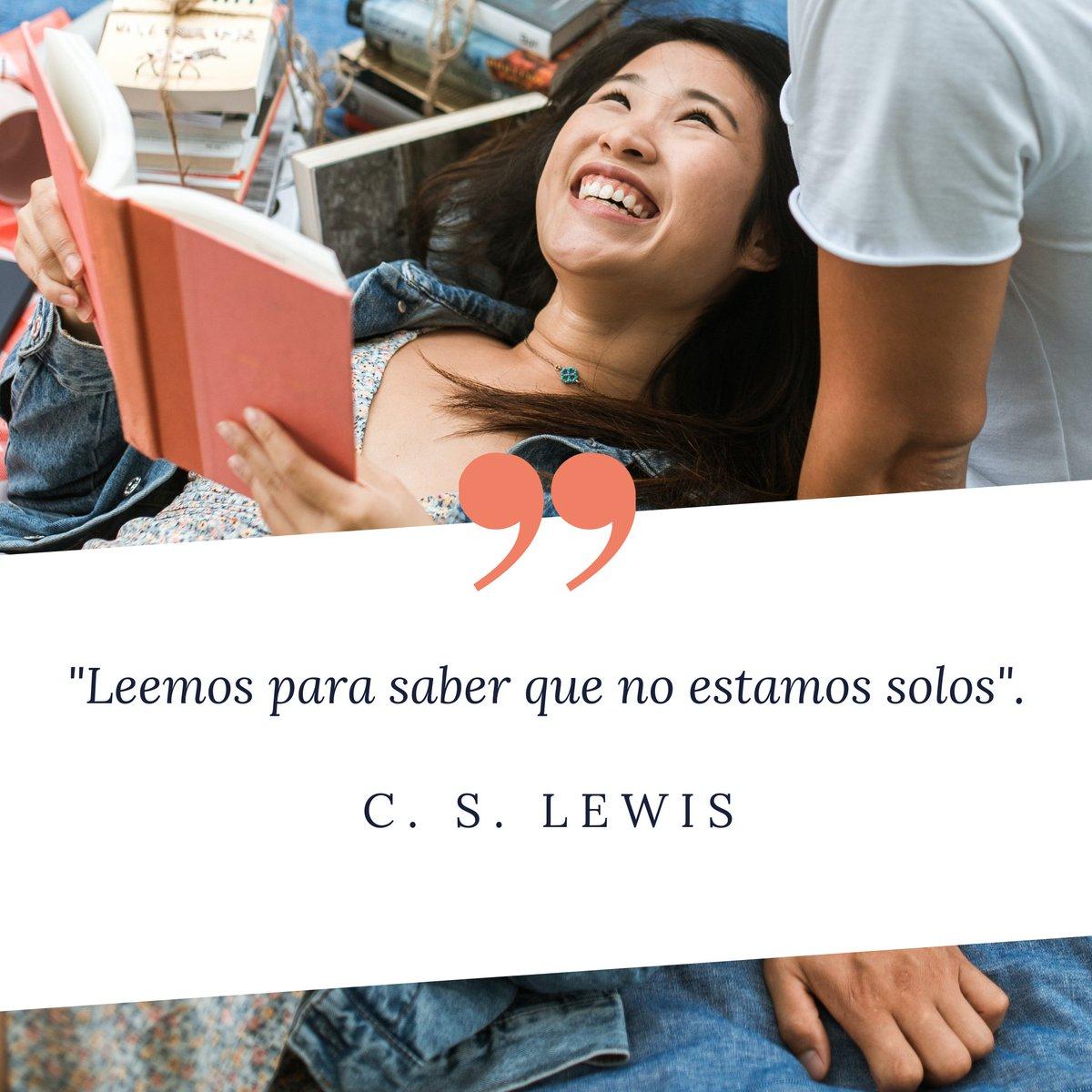 La cita de hoy viene de la mano de C. S. Lewis, el autor que dio vida al fantástico mundo de Narnia ✍️  ✨ Leemos para saber que no estamos solos ✨  Y vosotros, ¿por qué leéis? ☺️ https://t.co/4CmnE1lsOg