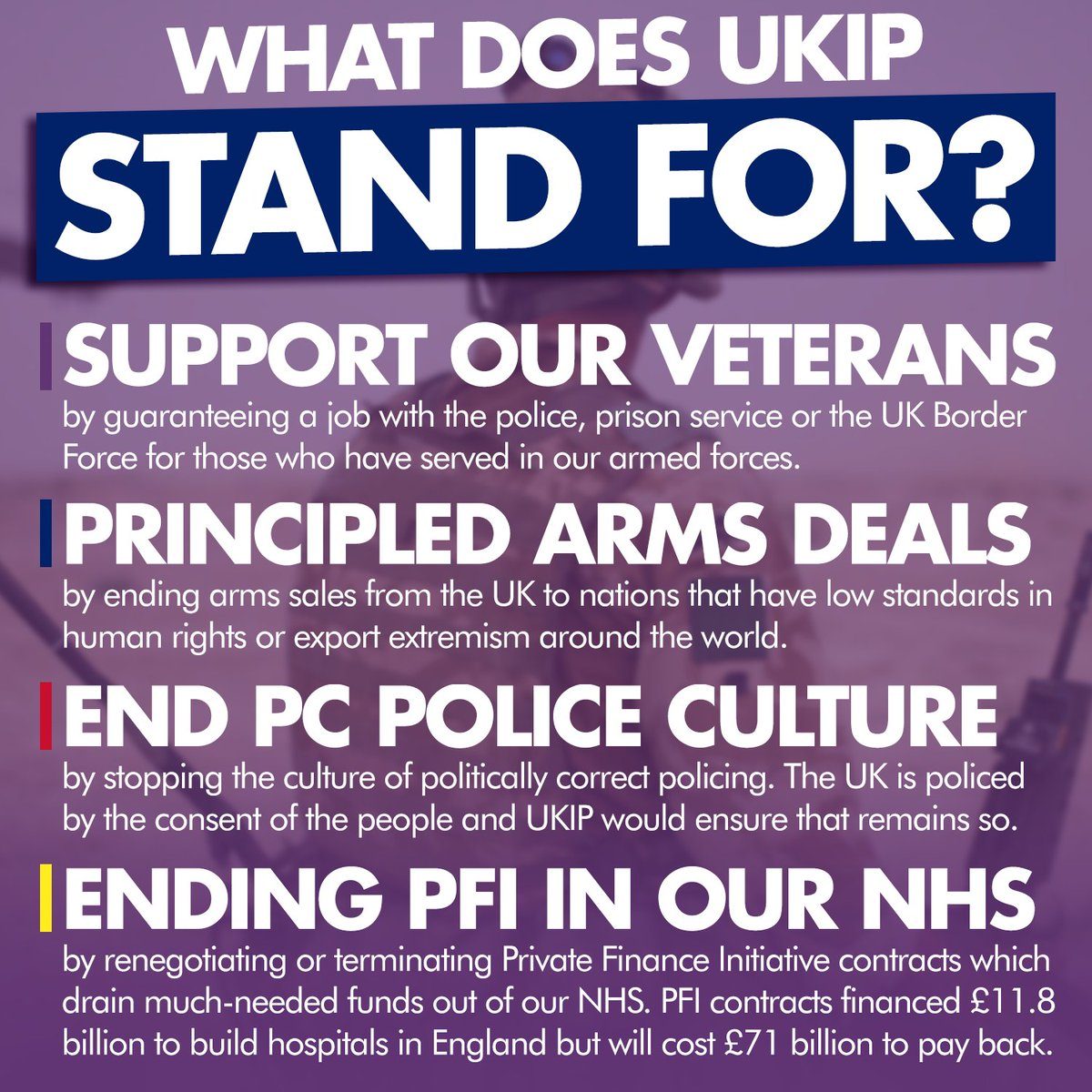 🎖️ UKIP stands for common sense when it comes to our brave veterans and emergency services. Let's end corrupt PFIs that are draining our NHS  With membership starting from as low as £2, there has never been a better time to join us.  ➡️