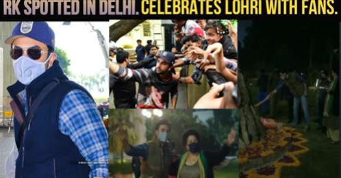 On the occasion of Lohri, #RanbirKapoor was snapped having a gala time with his fans in Delhi and the video since then has gone viral!