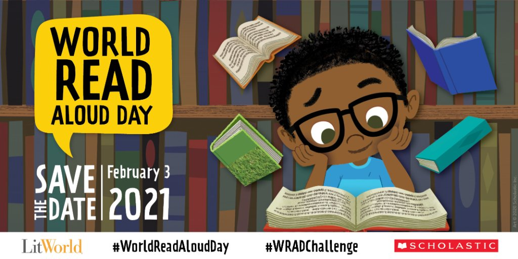 Get your classroom ready for #WorldReadAloudDay on February 3 with free resources, activities and our WRAD VirtualKit: