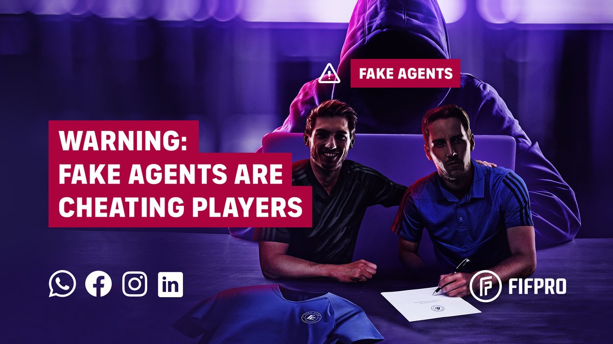 Fake agent alert🚨a person calling himself Francis Mofor from Frankfoot Sports is offering fake trials. He says he is a @FIFAcom licensed agent. But FIFA does not distrubute any licenses to player agents.   Read more 👇