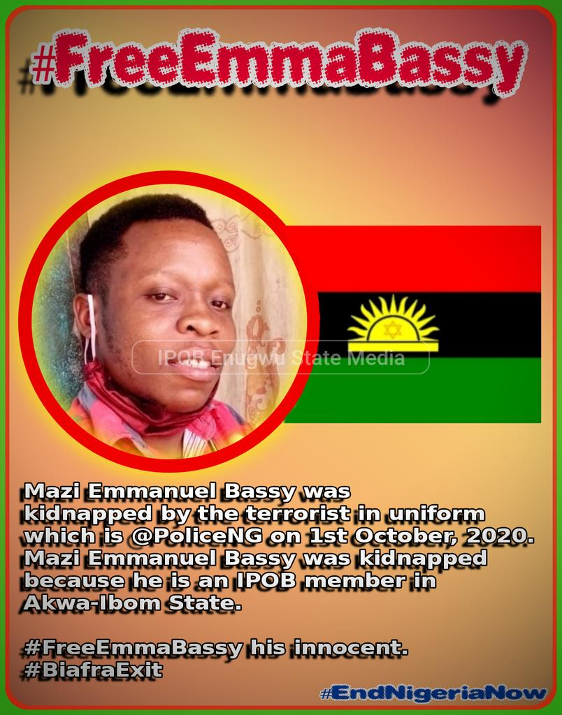 #FreeEmmaBassy  We're alerting the world that Emma Bassey the akwa ibom media head is seriously ill in police detention in akwa ibom, Nothing Bad should happen to him because he committed no crime, #HumanRightsDay  @MaziNnamdiKanu @AkwaIbomINFO @CNN @SecPompeo @Amaka_Ekwo @POTUS