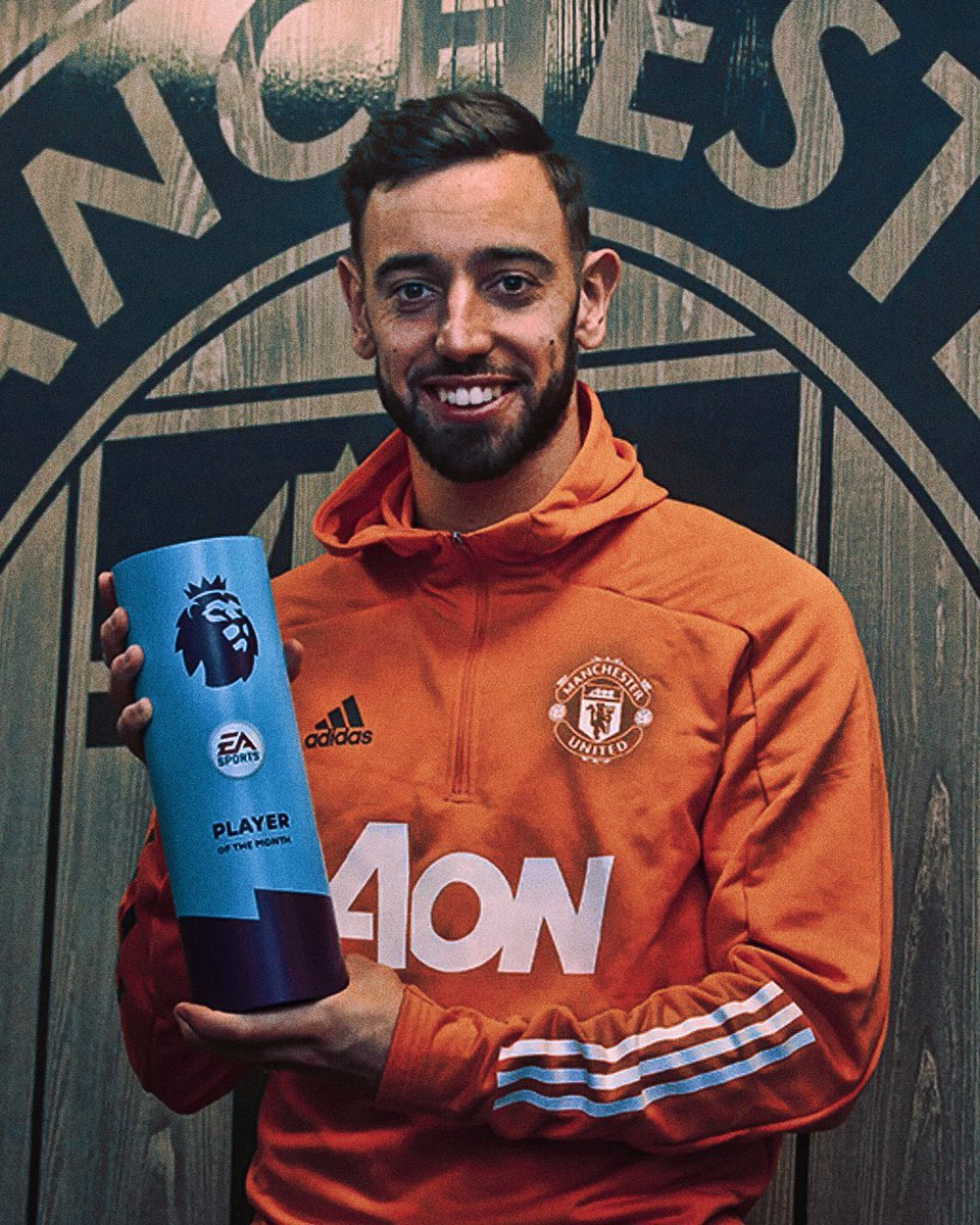 @B_Fernandes8 player of the month for the fourth time  An record breaking achievement  Well done and congratulations to El-Magnifico. Love all your fans in Iraq ❤  #brunofernandes #PL #PLAwards  @ManUtd  @ManUtd_AR  #MUFC  #MUSCIRAQ  #IraqRedArmy  #ILOVEUNITED_IQ