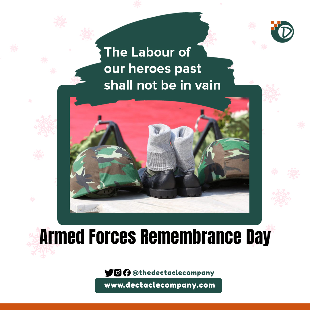 Celebrating the #ArmedForceDay2021.  Today we remember our fallen heroes,  men and women of the Armed Forces who have paid the supreme price to safeguard our nations peace, security and stability.  #VeteransDay #ArmedForcesRemembranceDay
