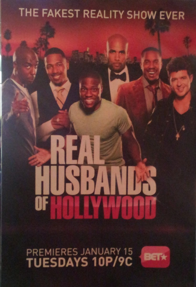 In 2013 and 8 Years Ago, #RealHusbandsofHollywood premiered on @BET on this day and deserve more seasons RT and Like if you love this show  (@KevinHart4real, #DuaneMartin, @ohsnapjbsmoove, @BorisKodjoe, @Nelly_Mo, @DondreWhitfield, @NickCannon, @cyncityforever, @robinthicke)