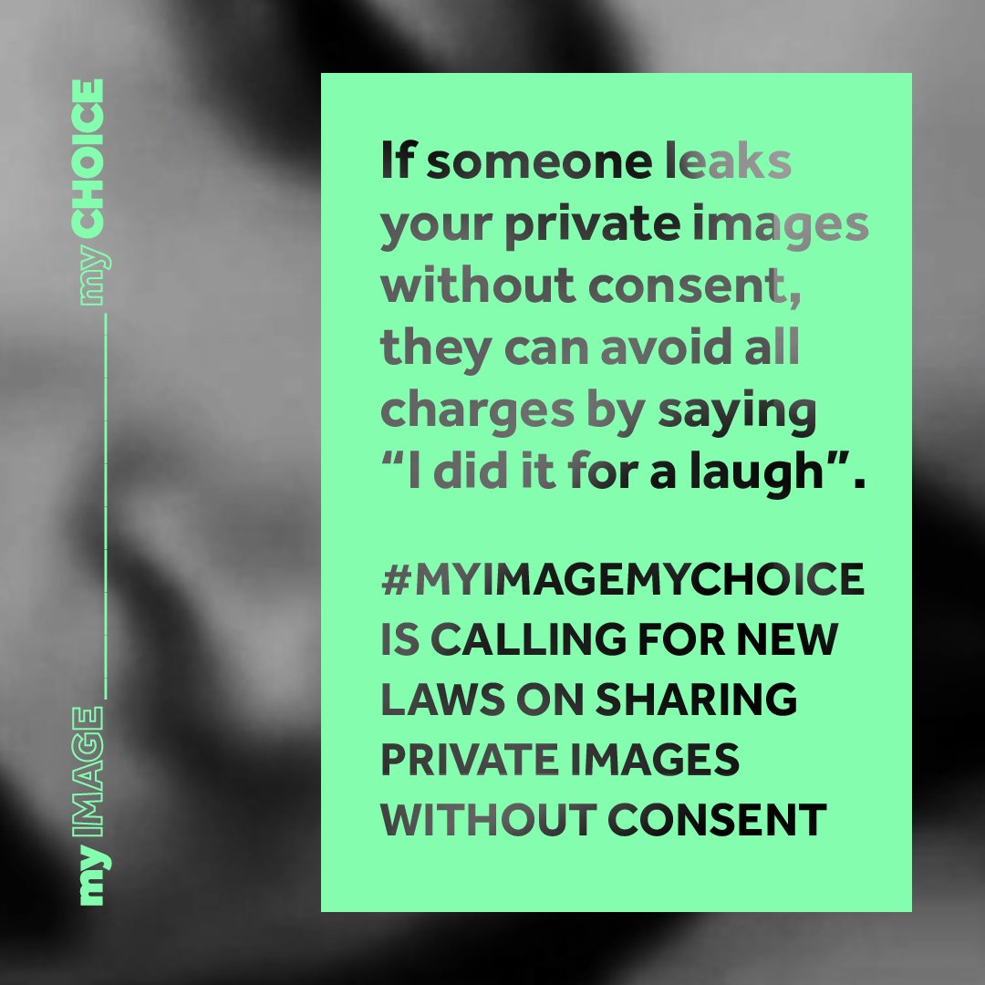 """Most cases of image-based sexual abuse, like 'deepfakes' or """"revenge porn"""", aren't covered at all by English laws. We should all have a right to privacy and agency over images of our own body. Sign this petition by @myimagemychoice   #myimagemychoice"""