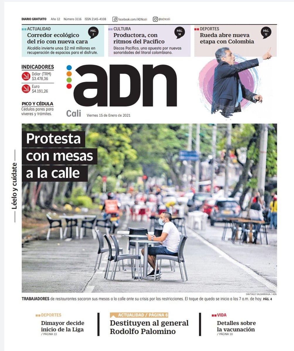 ¡Muy buenos dias! Te invitamos a leer nuestra edición de hoy, viernes 15 de enero. LéeloYCuídate #EsMiADN #AdnCali https://t.co/QK4H4cWyUh https://t.co/K0Yx2z1rh4