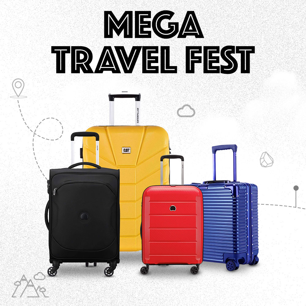 Made 2021 travel plans yet? Well here is some motivation - shop for travelgear during the #MegaTravelFest & get up to 12% back* on travel bookings! Shop now:   #travel  #Luggage #Travelgear #sale #discount #offer #AmazonFashion #HarPalFashionable