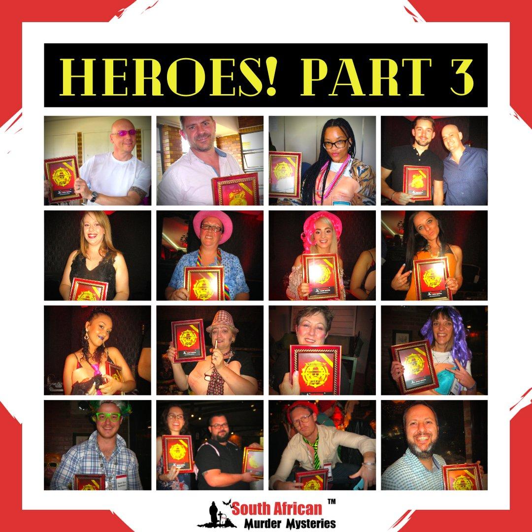 WINNERS!  Part 3 of our HEROES series... We applaud all of these Murder Mystery Heroes! 👏🕵️ . . .  #samurdermysteries #murdermystery #winners