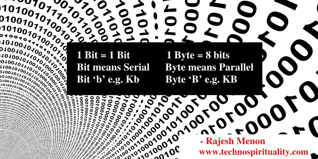 """A KiloByte is eight times bigger than a Kilobit""  #jargon #kbit #kbyte #technospirituality #quote #quotes #it #computer #chip #cpu #tech #technology #program #storage #friday #fridayvibes #fridaymood #fridayquotes"