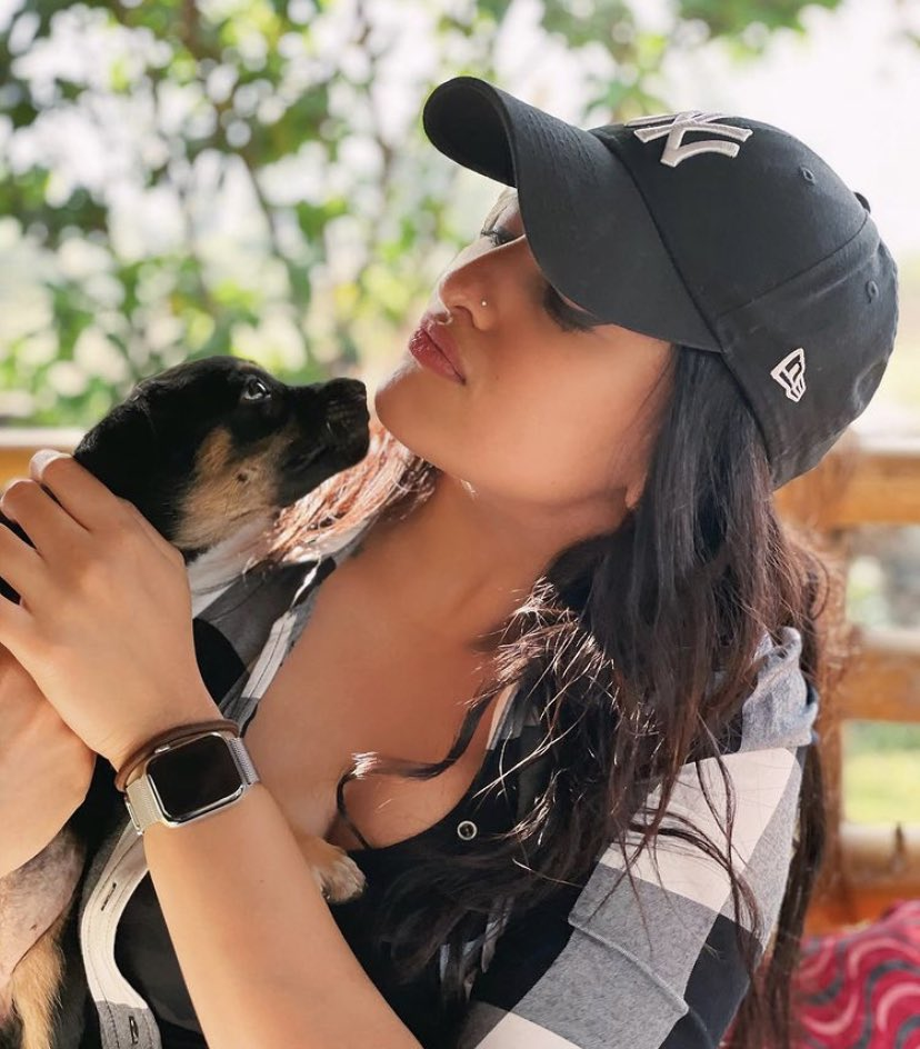 A little puppy love this Friday from #SonakshiSinha.