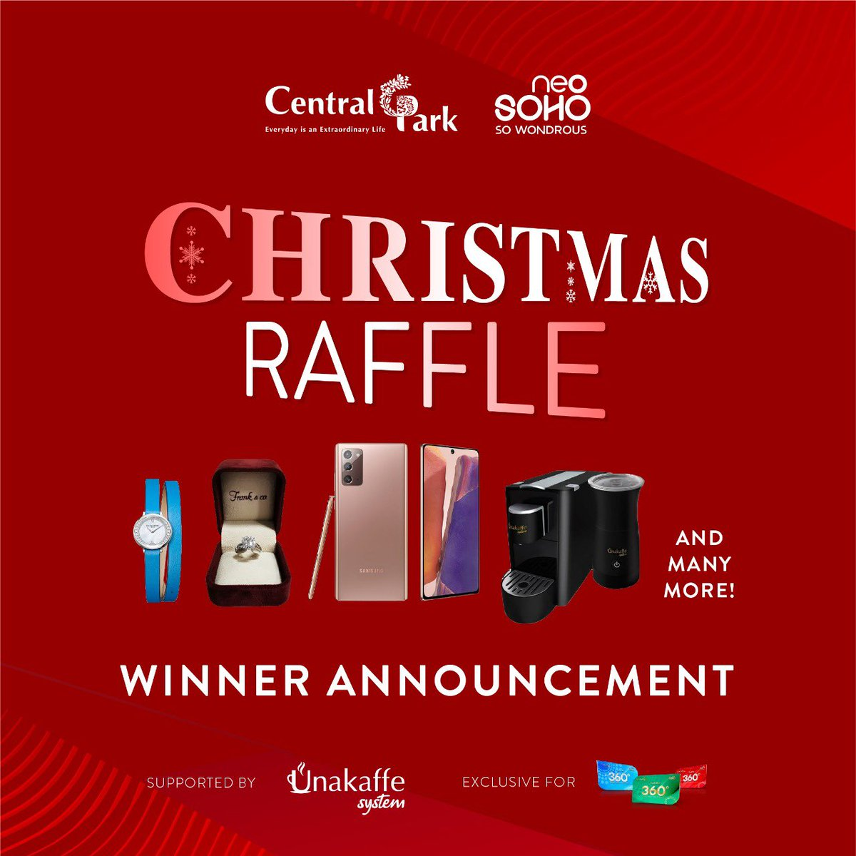 Central Park Christmas 2021 Central Park Mall On Twitter Raffle Of The Month Winner Announcement Exclusive For 360 Club Members 21 Nov 2020 3 Jan 2021 Congratulations For All The Winners Spend Min
