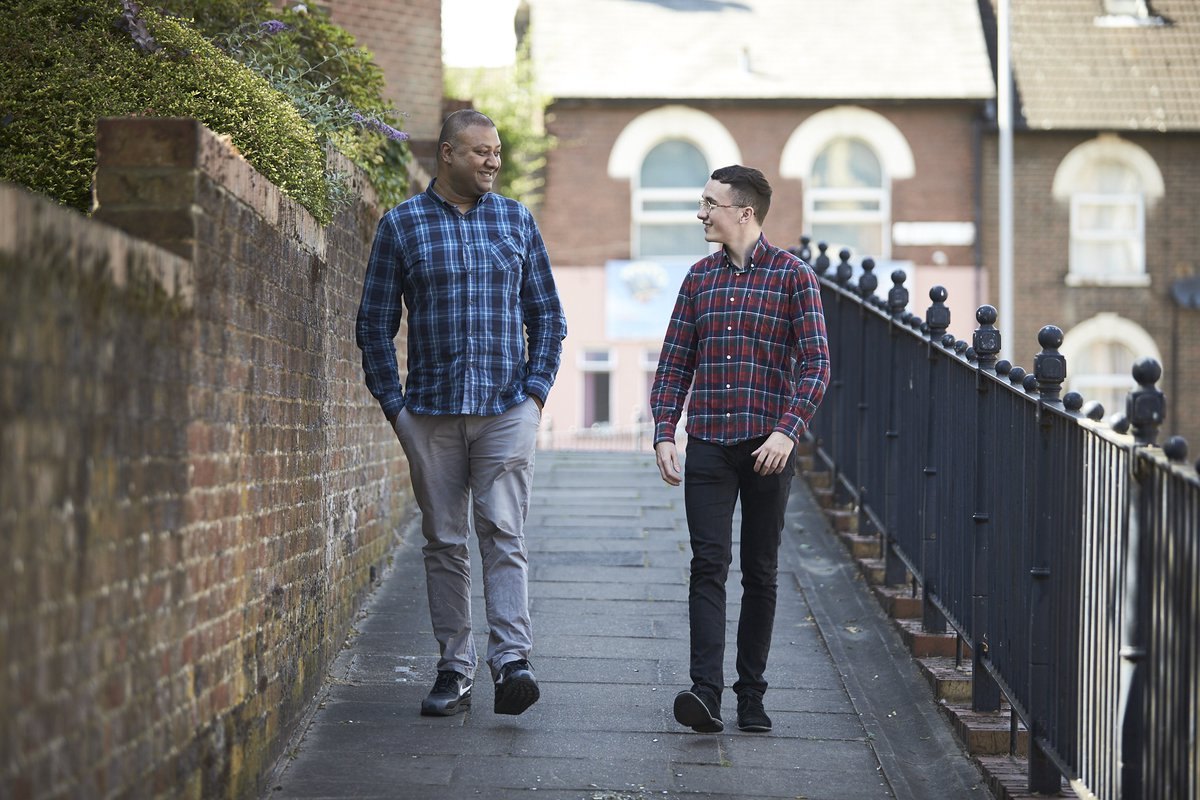 """""""Social workers should know how important they are. They can make a massive difference in someone's life"""". Richard, who lives with paranoid schizophrenia, reflects on the help he received from Benji.  Read on for some #FridayMotivation"""