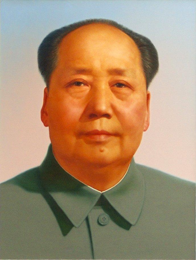 """Voici Mao. Il a l'air sympa, n'est-ce pas ? Il est pas blanc c'est déjà ça.😉  Mais bon il est quand même responsable de la mort de quelque 80 000 000 d'êtres humains.   C'est juste qu'il n'est pas très reconnu par """"l'inconscient collectif"""" donc #CameliaJordana le connaît  pas."""