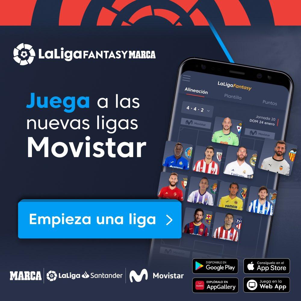 ✨⚽ ¡Juega YA a las nuevas ligas @movistar_es en @FantasyLaLiga!   👔📋 Haz tu equipo con los cracks de #LaLigaSantander, sé el mejor manager y gana increíbles premios   📲 Descarga ya la app:   #HayQueVivirla