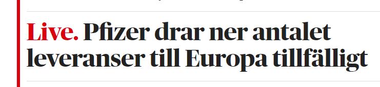 Så sent som igår så stod #FHM & lovade att vaccinet kommer enligt plan & #Tegnell uppmanade regionerna till att inte hålla något på vaccinering, han älskar ju att skylla på dem så gott det går, eftersom han har ställt till med denna massdöd i #Sverige! #svpol #Corona #Sweden #SWE https://t.co/lkGKP6uJNH