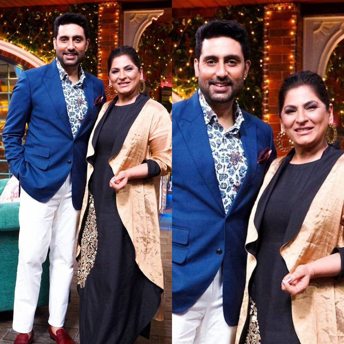 @archanapuransingh clicked with @juniorbachchan on the sets of #thekapilsharmashow 😍  #instantcelebrities #AbhishekBachchan #archanapuransingh #thekapilsharmashow