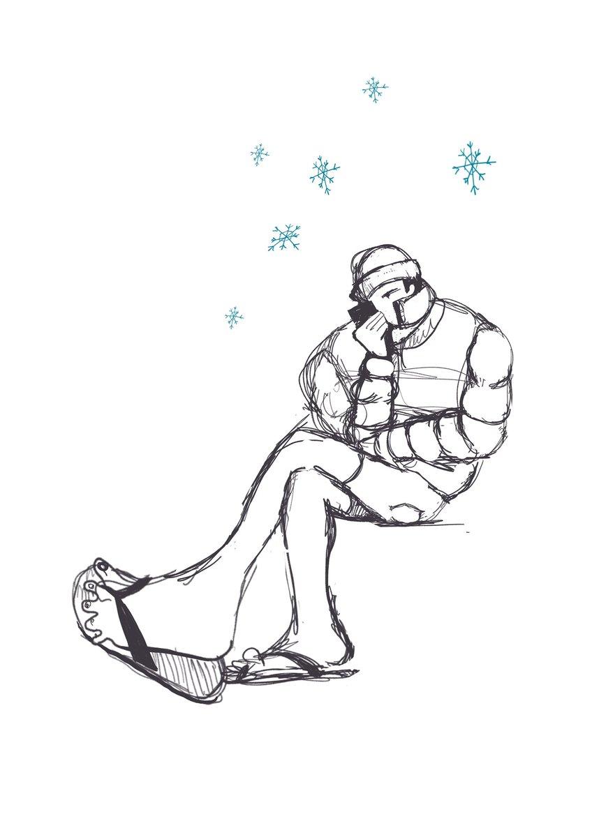 Winter in #Israel and Israeli in #winter #ישראל #חזרות #illustration #art #ipad #sketch https://t.co/G6s36OGSmj