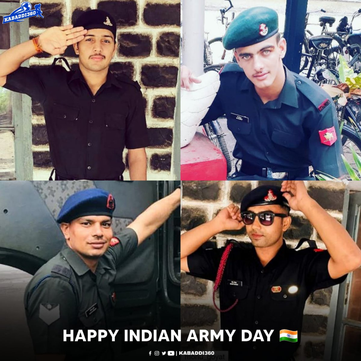 A moment of appreciation for our Kabaddi players 👏🏻 who serve the Indian Army!   #IndianArmyDay #Kabaddi360 #Kabaddi