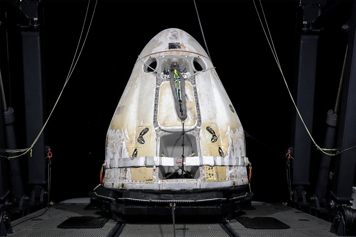 SpaceX has published a photo of the CRS-21 Dragon after successful recovery!