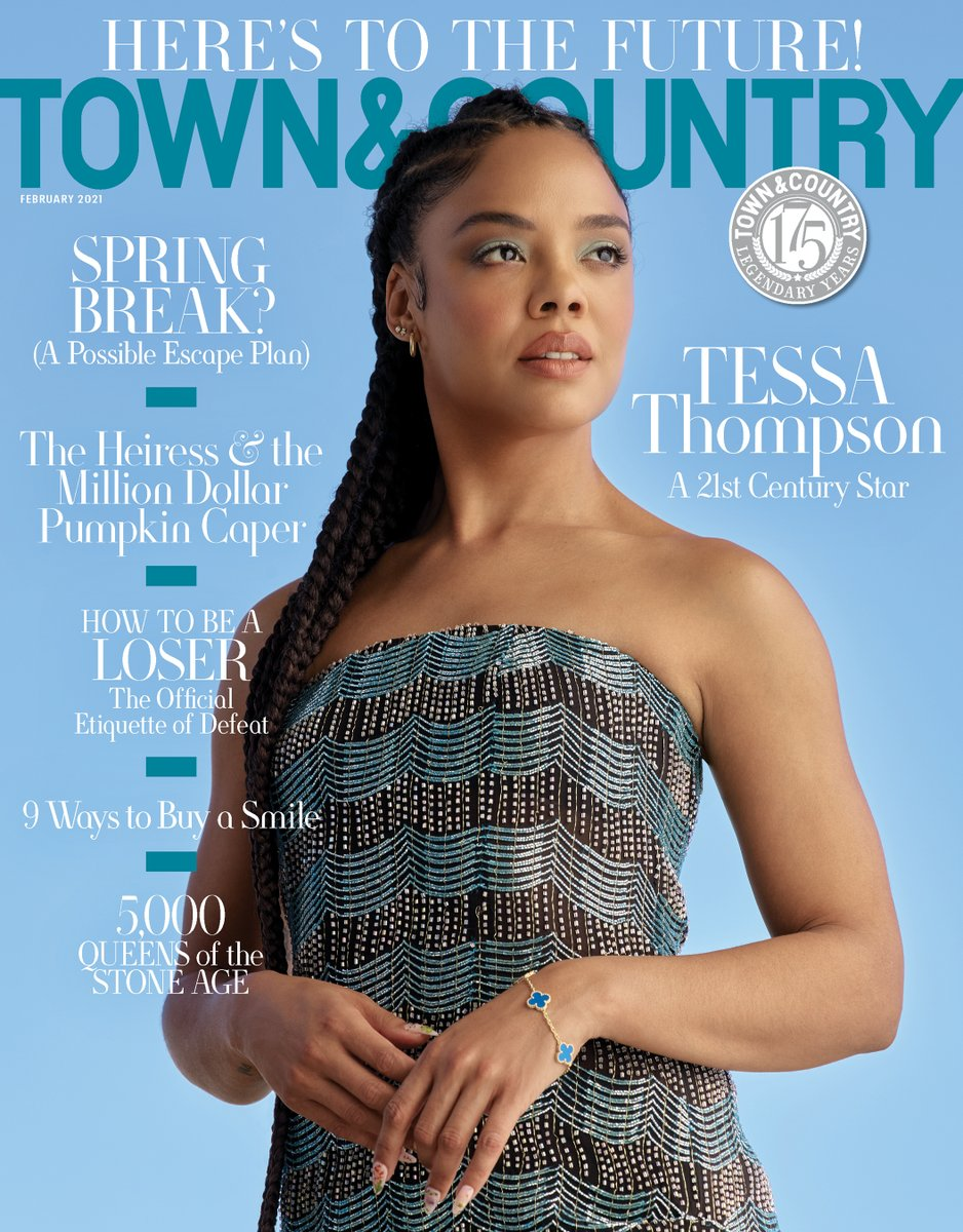 T&C's February 2021 issue is here, and we're looking to the future with the talented #SylviesLove star @TessaThompson_x. She's been an action hero and a fashion rebel, but her most important role is as Hollywood's rising agent of change. Read more here: