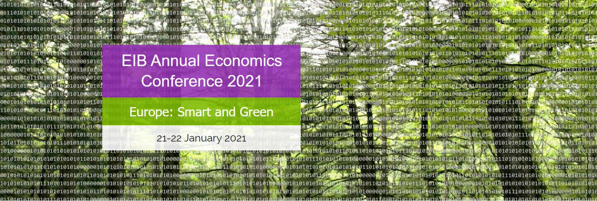 What are the challenges & opportunities posed by the #COVID19 crisis? How can #Europe embark on a digital & #GreenRecovery?  The #EIBEcon conference will bring together high-level speakers to discuss the post #COVID19 recovery. 🗓️January 21-22  ➡️More info