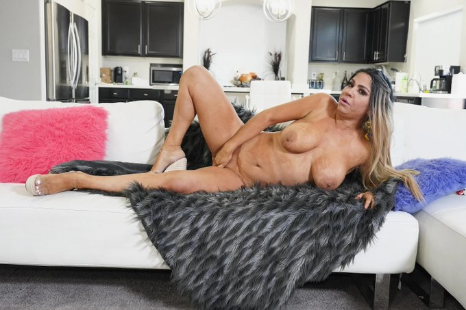 1 pic. Watch Busty Mexican Cougar Andrea Grey as she strips down and give JOI...in this hot JOIBabes