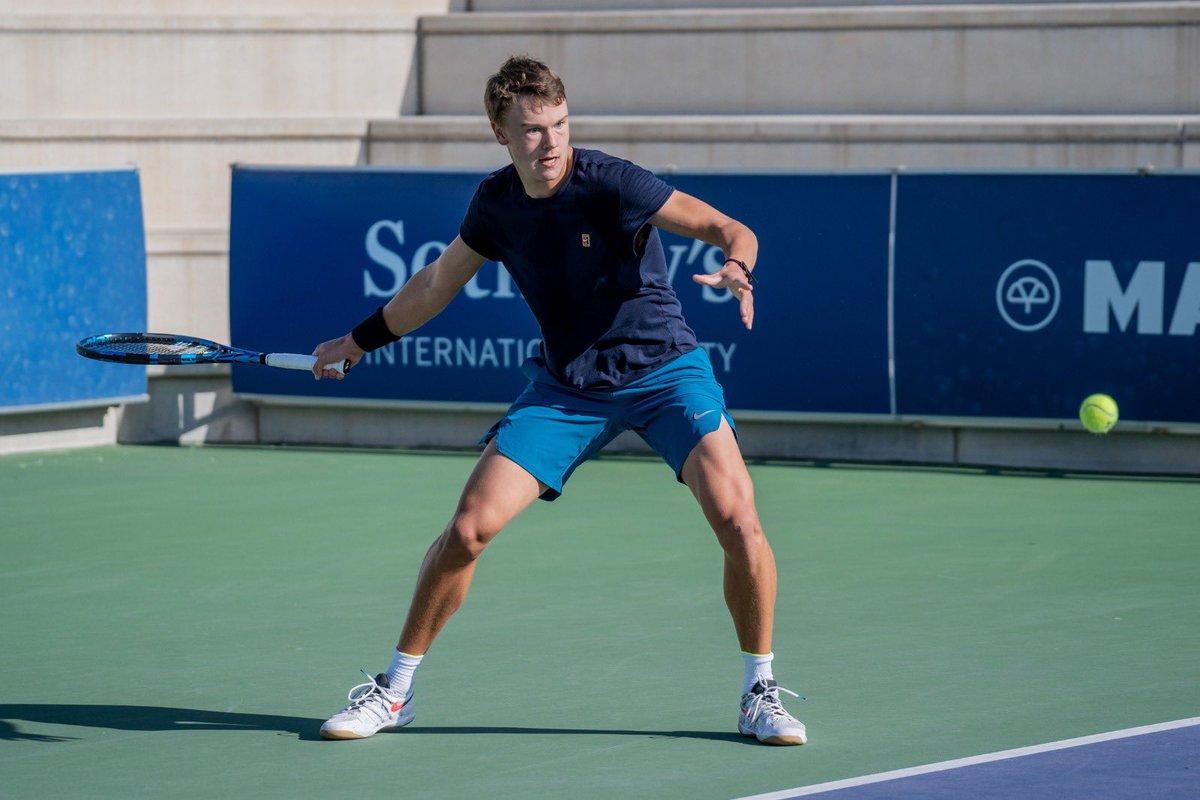 ¡Ya tenemos definidas las semifinales del @ITFTennis by @lgespana!  🎾 Evan Furness VS Tobias Simon 🎾 Holger Rune VS Dan Added  VAMOS‼️